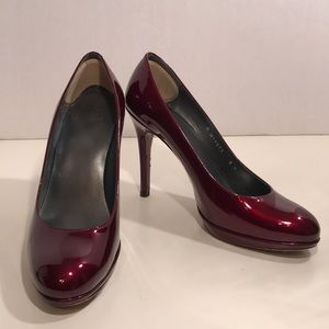 "Stuart Weitzman ""Gently Worn"" Maroon Pumps"